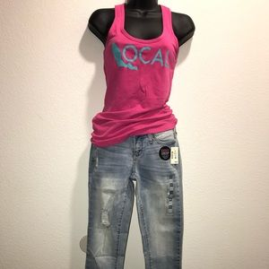 Aeropostale destroyed jeans 00R and pink top